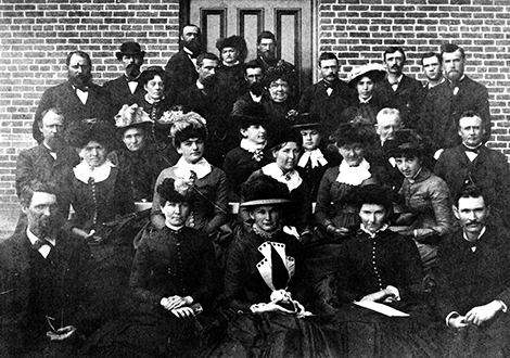 students from the Normal School 1884