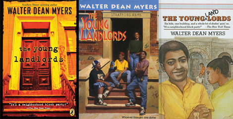 three book covers of the Young Landlords