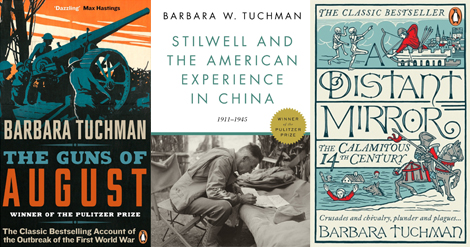 three book covers by Barbara Tuchman