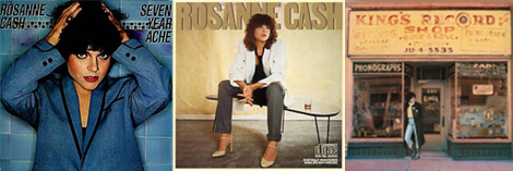 three Rosanne Cash album covers