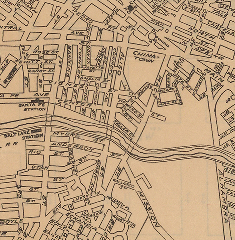old map of Chinatown