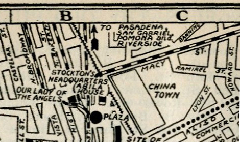 Rider's Travel Guide of 1924 showing Chinatown but leaving much unsaid in the guide text.