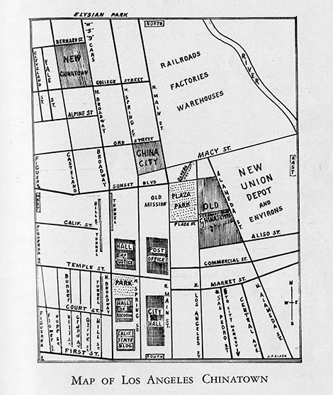 Map from book inside Los Angeles Chinatown