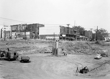 Construction of the 101 near the Garnier Building