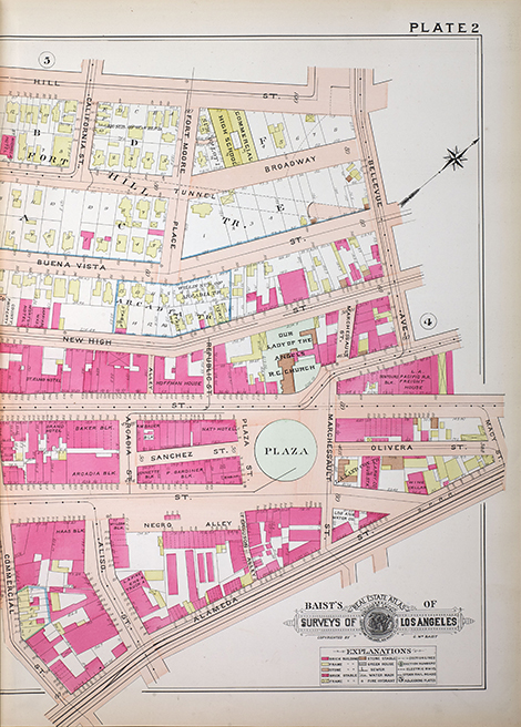 A Baist Atlas showing Chinatown after the turn of the 20th century without the seedy detail of the Dakin