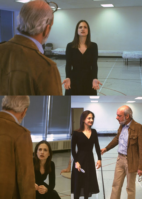 Patty LuPone in rehearsals with director Hal Prince