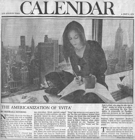 Barbara Isenberg's May 6, 1979 article took up a whopping three pages in the Los Angeles Times calendar section