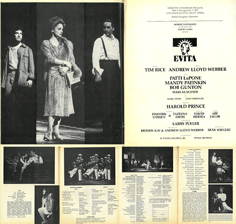 The program was revised in June to incorporate more production photographs and Klausner was added to the billing of main players. The original program consisted of rehearsal images.