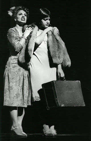 "LuPone and Jane Ohringer in the prelude to ""Another Suitcase in Another Hall"""