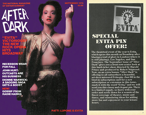 LuPone was featured in After Dark magazine