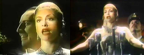 Screen grabs from the television commercial that was created during the Broadway run