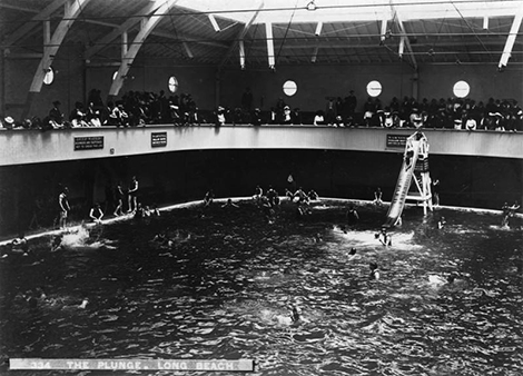 indoor swimming pool in Long Beach 1920