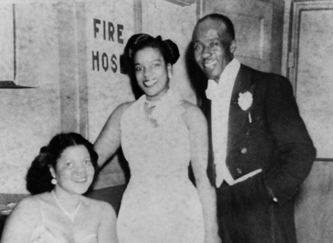 A trio gathers at the Zenda Ballroom, 1939