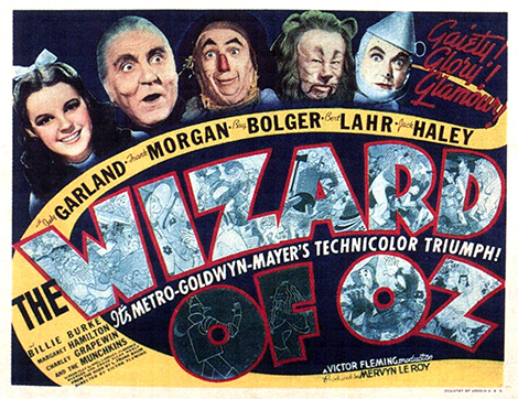 Wizard of Oz lobby card from 1939