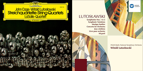 two album covers by Lutoslawski