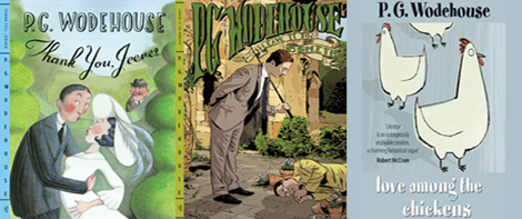 3 book covers by Wodehouse