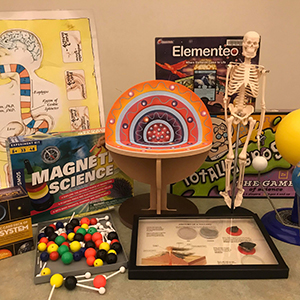 a variety of kids science kits