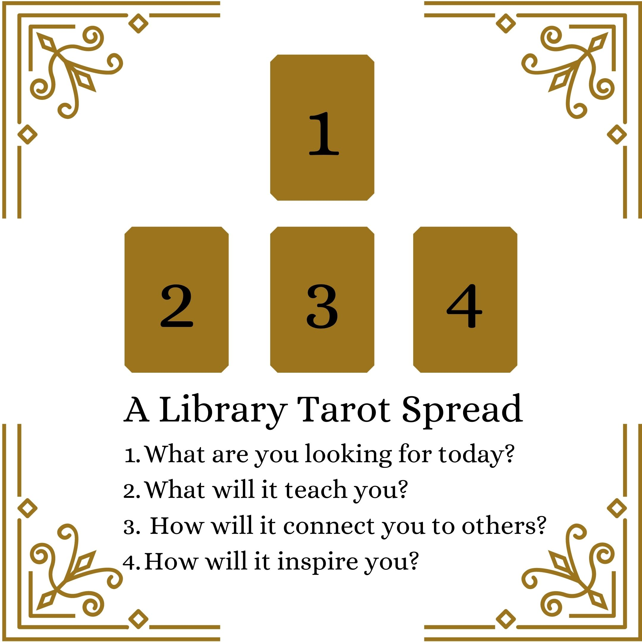 gold and white tarot spread