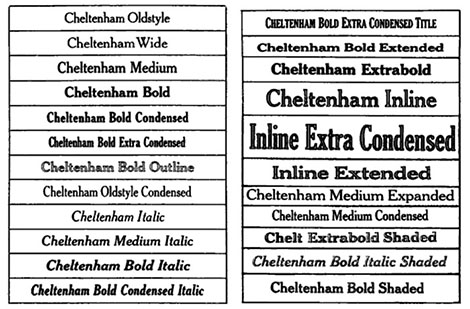 an example of Cheltenham type face and font