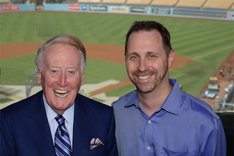 Vin Scully and Jon Weisman