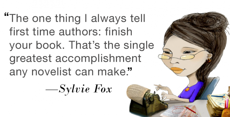 Quote: The one thing I always tell first time authors: finish your book. That's the single greatest accomplishment any novelist can make.