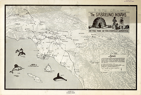 Map of the Gabrielino Indians