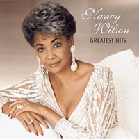 album cover for Nancy Wilson's Greatest Hits. A photograph of Nancy