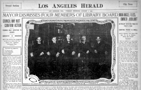 The cover of the August 1, 1905 Los Angeles Herald