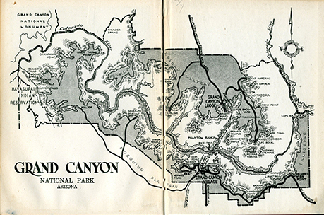 vintage Grand Canyon map