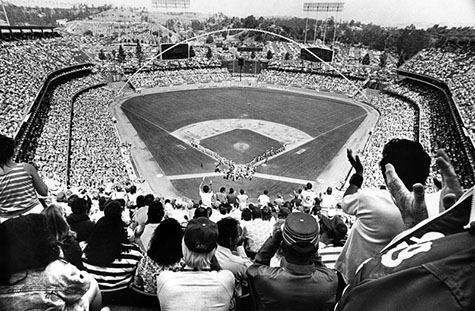 View from top of Dodger Stadium general admission seats
