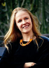 The picture of a multiple award-winning Garman author Cornelia Funke
