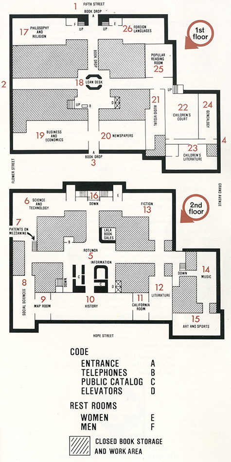 Floor Plan of Central Library, 1984