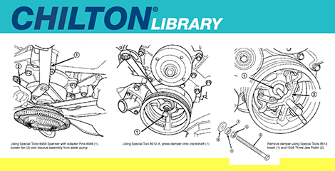 Chilton logo with manual instructions