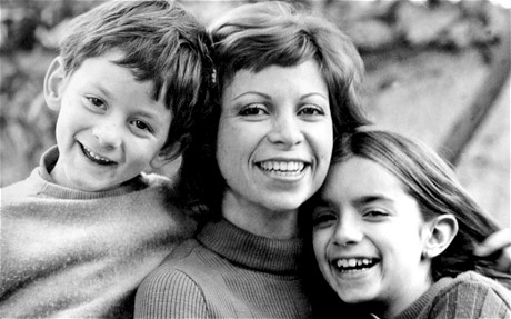 Allende with her children, Nicolas and Paula, in the 1970s
