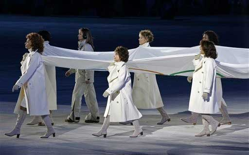 Olympic flag bearers