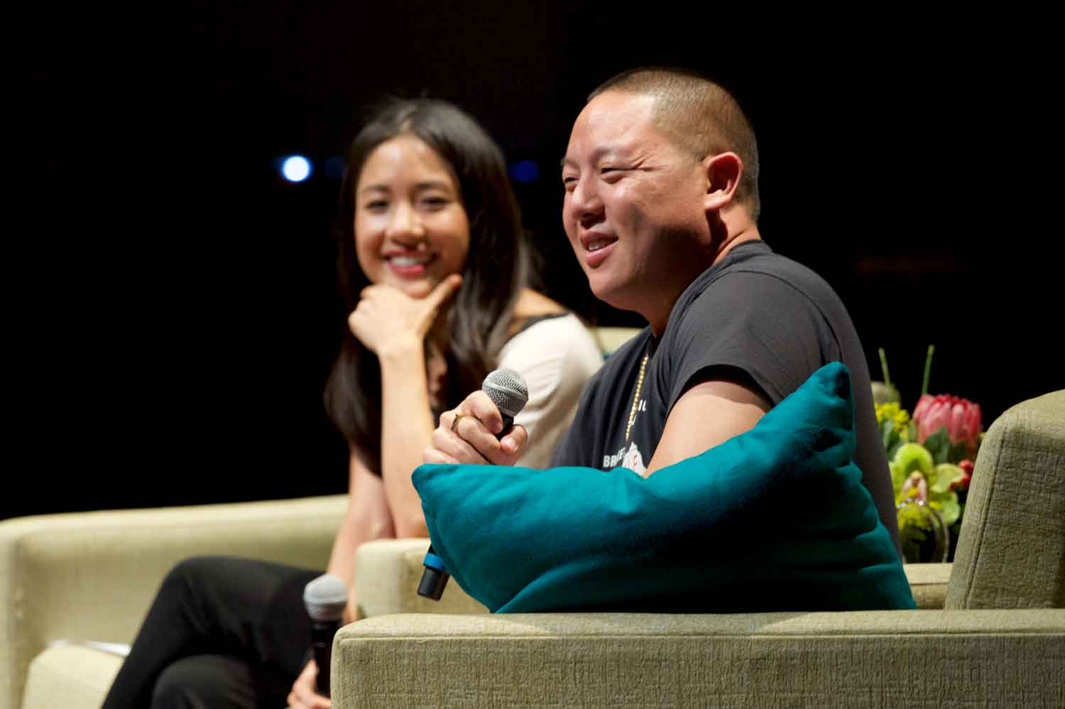Eddie Huang and Constance Woo