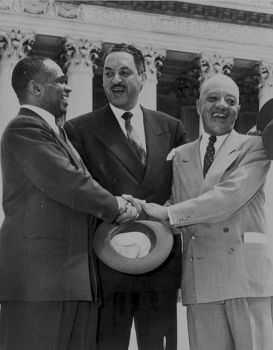 George Edward Chalmer Hayes, Thurgood Marshall, and James Nabrit in 1954 winning Brown case
