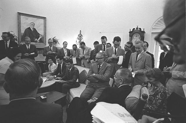 President Lyndon Johnson announces nomination of Thurgood Marshall to the Supreme Court