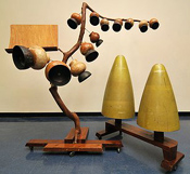 Harry Partch's gourd tree and cone gongs