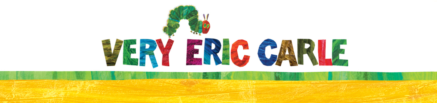 very hungry caterpillar illustration and text that reads very eric carle