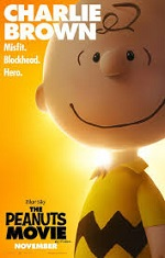 A cartoon boy with a yellow short looks directly at the camera. Movie poster.