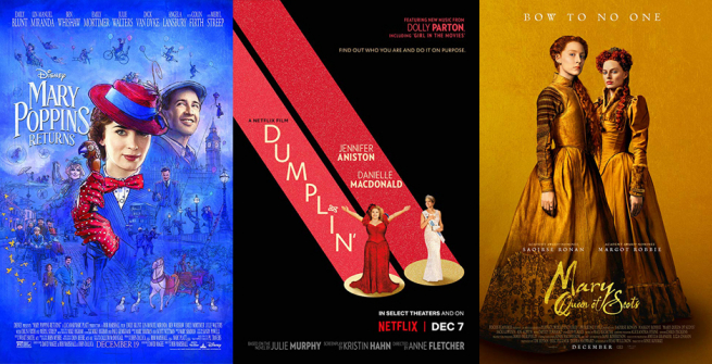 three movie posters