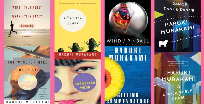 8 books covers by Haruki Murakami