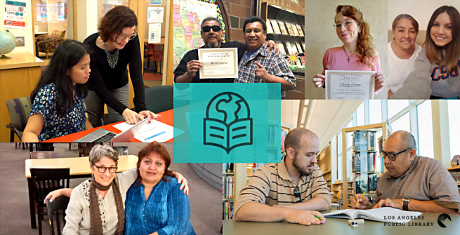 Collage of Adult Literary program volunteers