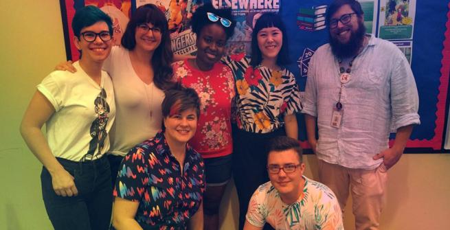 Comics creators at the North Hollywood library