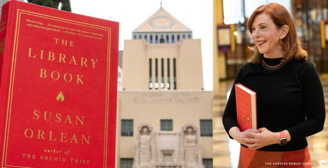 Susan Orlean holding the Library Book