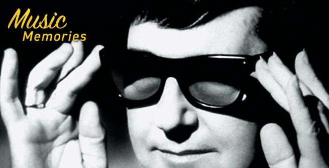 Roy Orbison in his trademark sunglasses