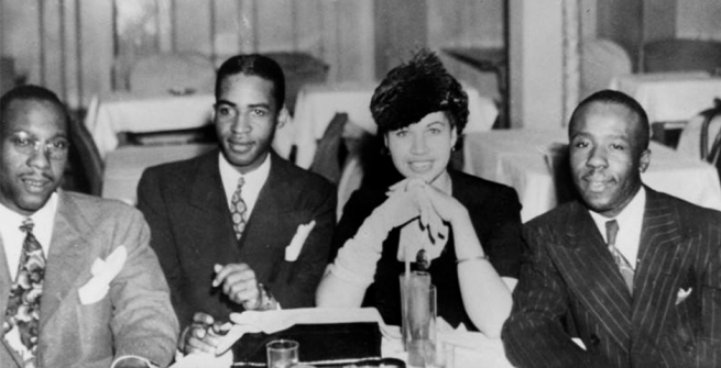 Nightclub at 42nd and Central Avenue, with Lucille and Edward on the right.