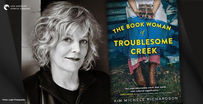 Kim Michele Richardson and her book jacket