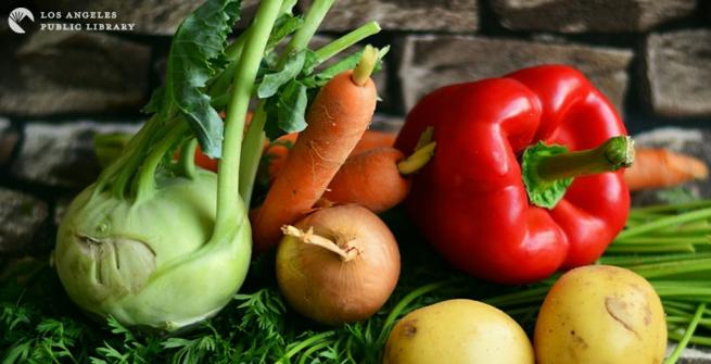 wood table full of vegetables